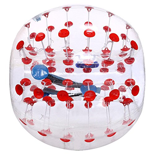 nt Inflatable Bumper Ball Human Knocker Ball Bubble Soccer for Adults and Teenagers, 123/133cm Diameter (Red Dot 1.2M) (Football 123)