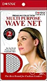 (PACK OF 12) DONNA PREMIUM COLLECTION MULTI PURPOSE WAVE NET #11082 BLACK