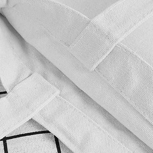 Tygpåse återanvändbar shoppingväska mode kvinnor kanvas tygväska ekoväska tecknad shoppare axelväskor
