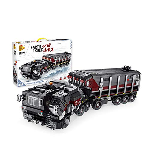 Technology series heavy earth carrier wandering film assembling small particles building blocks toy model early…