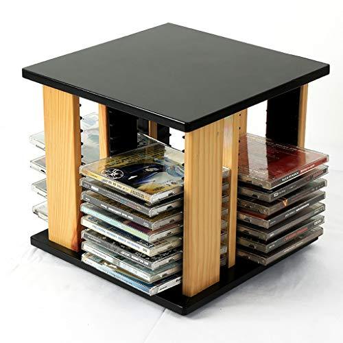 GWXJZ CD DVD Racks CD Storage Rack Desktop CD Rack 360° Rotatable CD Disc Shelf Ps4 CD Storage Bag DVD Holder Finishing Rack