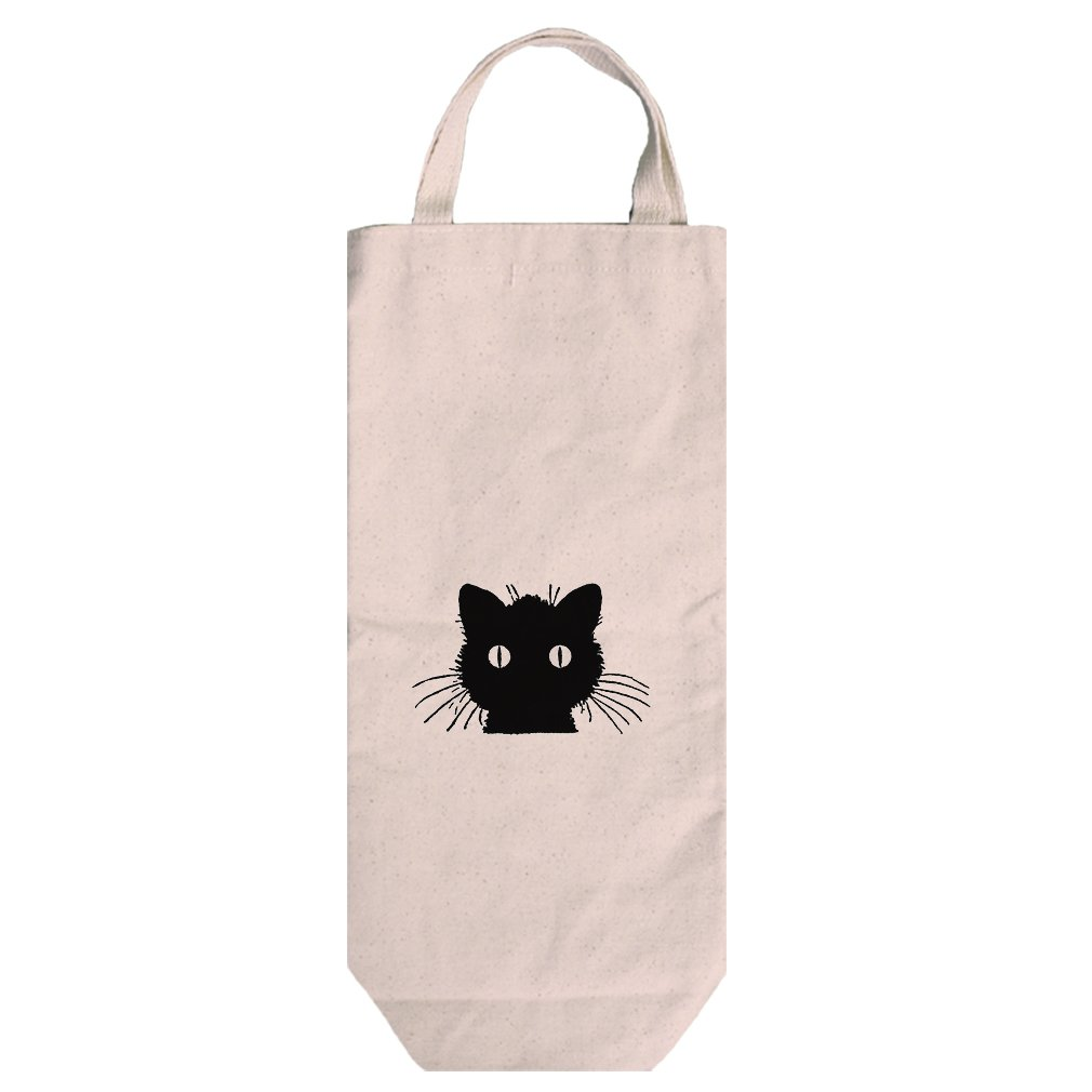 Canvas Wine Bag Tote With Handles Cat Vintage Look By Style In Print