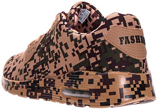40 Farben Braun mit 6 Dämpfung 46 BRONAX Herren Air Sneaker 6nqF4I4v