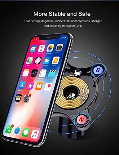 QI Fast Magnetic Wireless CAR Charger Mount for All QI Enabled Devices iPhone 8/8S/8plus/X Samsung Note 8/S8/ S8 Plus / S7 / S6 Phone Mount Charger Fast Charge Easy Dash Vent Mount by W.A.C (Image #6)