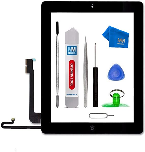MMOBIEL Digitizer compatible with iPad 4 9.7 Inch Touchscreen Front Display Assembly Incl Tool kit White
