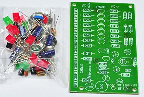 VU Meter 15 LED Wireless Sound Level Detector MIC Unassembled Kit [FK103]