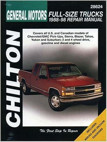 General motors full size trucks 1988 98 repair manual chilton general motors full size trucks 1988 98 repair manual chilton automotive books 1st edition sciox Gallery