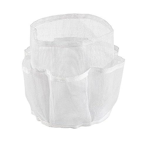 InterDesign Una Bathroom Shower Caddy for Shampoo, Conditioner, Soap, Mesh, White