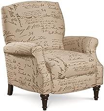 Superbe Lane Furniture Chloe Recliner, Caramel