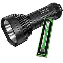 Nitecore TM16GT 3600 Lumen CREE LED long range Flashlight/Searchlight and USB powered EdisonBright reading light bundle