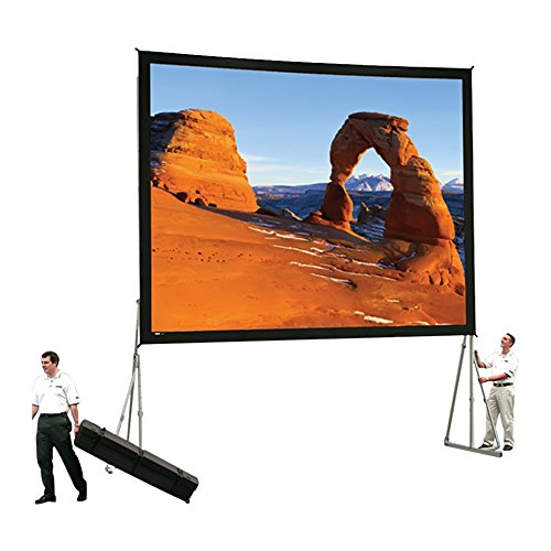 Dual Vision Heavy Duty Deluxe Fast Fold Complete Front and Rear Projection Screen - 6' x 8' Size: 12' x 21'4