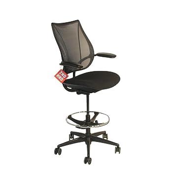 humanscale liberty black draughtsman chair amazon co uk kitchen home