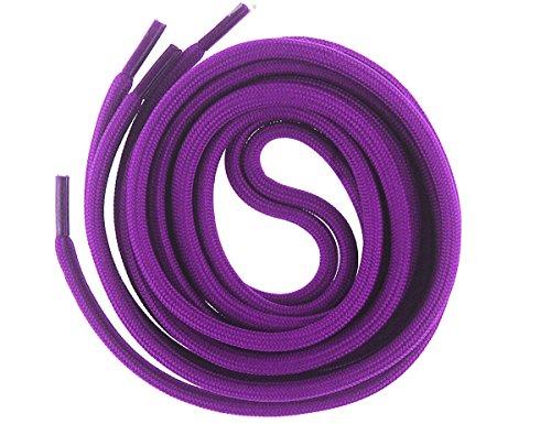 Mshega 6mm Round Athletic Shoelaces Solid Colors Shoe Laces (Purple,140) (Purple Skateboard Shoe)