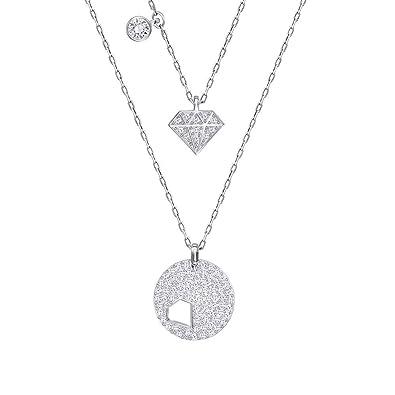 8a700b5c6 Swarovski Crystal Wishes Diamond Shape Necklace Set 5272247: Amazon.co.uk:  Jewellery