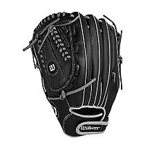 "Wilson A360 Slowpitch Glove, 13"", Black/Grey, Left Hand Throw"