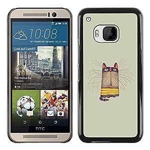 Paccase / SLIM PC / Aliminium Casa Carcasa Funda Case Cover para - Grey Pastel Colors Yellow Animal Cartoon - HTC One M9