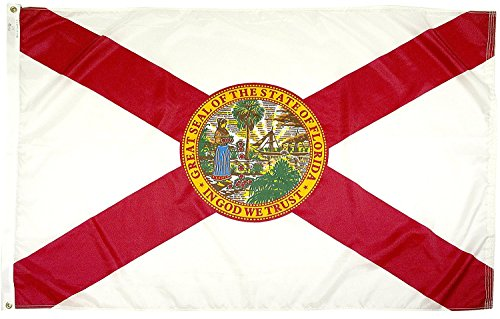 FlagSource Florida Nylon State Flag, Made in The USA, 5x8'