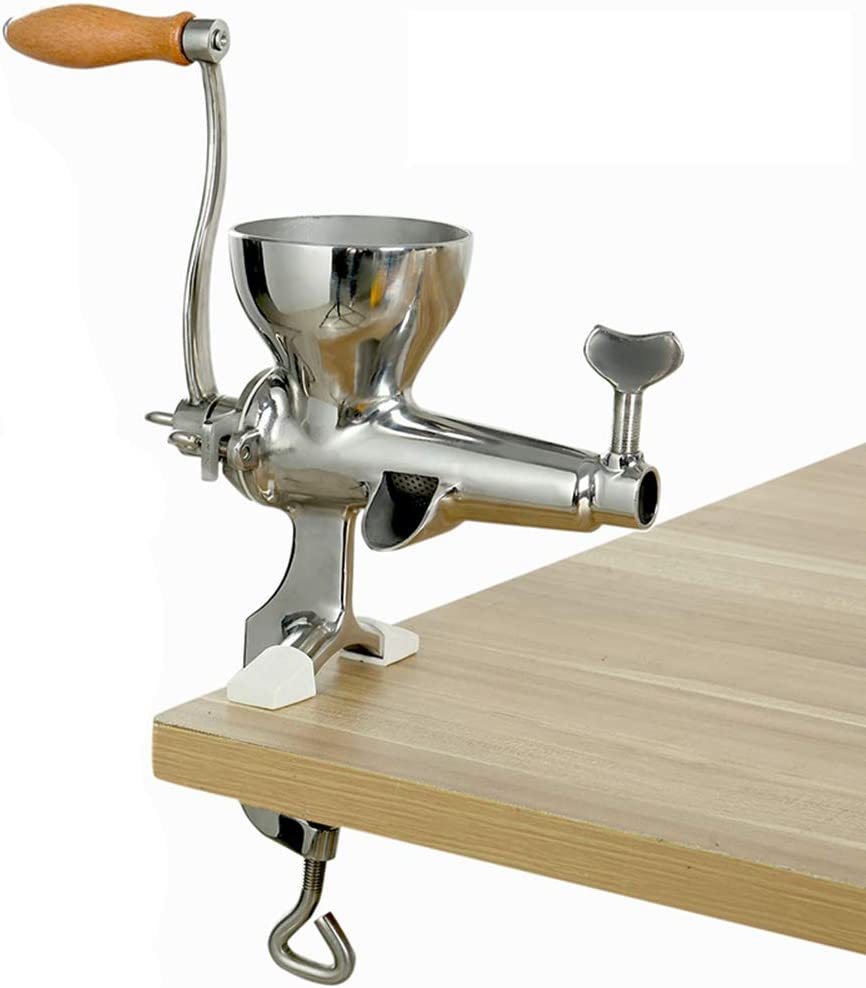 N\ A Manual Wheatgrass Juicer, Stainless Steel Multifunctional Juicer, Suitable for Home Kitchen Silver