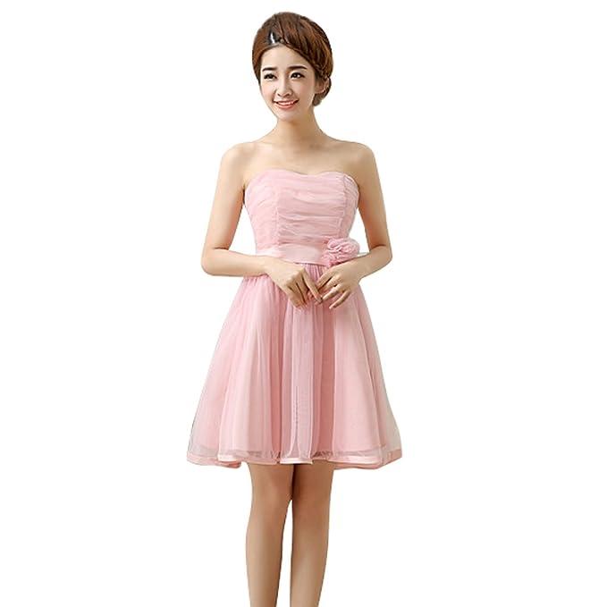 AUBIG Mujer Bustier Vestido sin Tirantes Strapless Mini Dress Vestido De Fiesta Vestido para Novia y