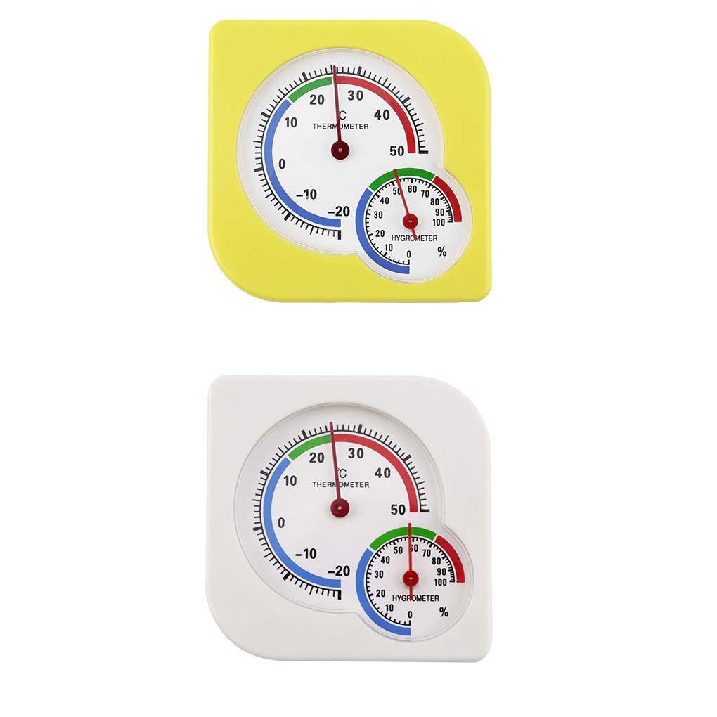 Zerama Innen Stehen Hanging-Thermometer-Hygrometer-Temperatur-Feuchtigkeits-Pr/üfvorrichtung Kunststoff Analog Dial