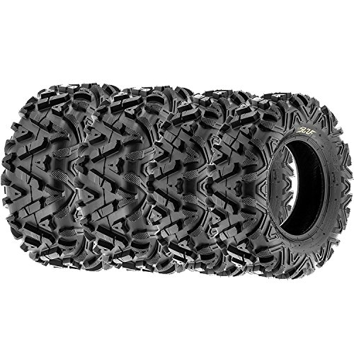 SunF A033 25 inch ATV UTV Tires 25x8-12 & 25x11-12, 6 PLY Front & Rear Set of 4 by SunF