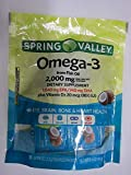 Spring Valley Omega-3 Plus Vitamin D3, Eye, Brain, Bone, Heart, 30 Squeeze Packets