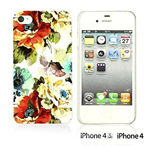Flower Pattern Hardback For Iphone 5/5S Case CoverWatercolor Flower Print