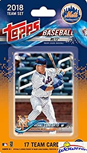 New York Mets 2018 Topps Baseball EXCLUSIVE Special Limited Edition 17 Card Complete Team Set with Michael Conforto, Noah Syndergaard & Many More Stars & Rookies! Shipped in Bubble Mailer! WOWZZER!