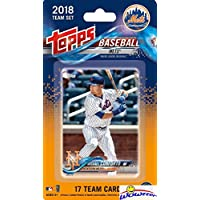 fan products of New York Mets 2018 Topps Baseball EXCLUSIVE Special Limited Edition 17 Card Complete Team Set with Michael Conforto, Noah Syndergaard & Many More Stars & Rookies! Shipped in Bubble Mailer! WOWZZER!