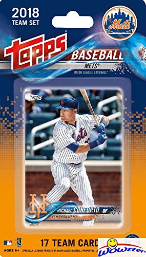 New York Mets 2018 Topps Baseball EXCLUSIVE Special Limited Edition 17 Card Complete Team Set with Michael Conforto, Noah Syndergaard & Many More Stars & Rookies! Shipped in Bubble Mailer! WOWZZER! (Mlb Topps Set Team)