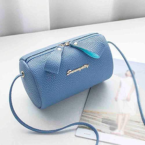 Elegante E Borsette Tracolla Donna Pochette Da Borsa Polso Blu Feixiang Clutch Della Piccola Quilted Frizione 7AxTw8naq