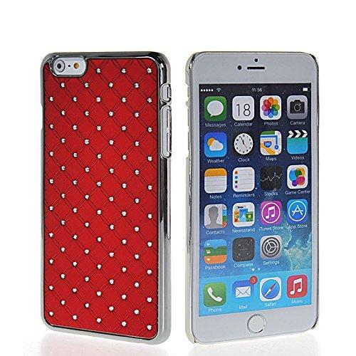 MOONCASE Chrome Bling Hard Shell Cover Housse Coque Etui Case Pour Apple iPhone 6 Plus Rouge