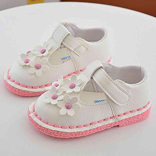 Hunpta Kinder Mädchen Blume Schuhe Prinzessin Mode Single Schuhe Sommer Mädchen Sandalen Weiß
