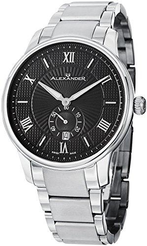Alexander Statesman Regalia Men's Black Dial Stainless Steel Swiss Made Watch A102B-02 - 51aBr5UxbnL - Alexander Statesman Regalia Men's Black Dial Stainless Steel Swiss Made Watch A102B-02