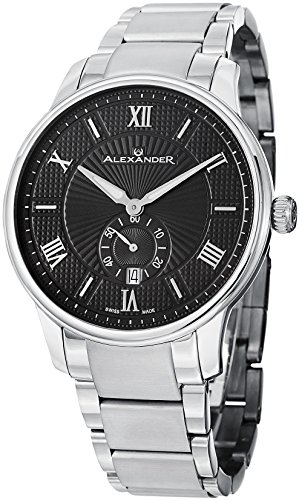 Alexander Statesman Regalia Men's Black Dial Stainless Steel Swiss Made Watch A102B-02