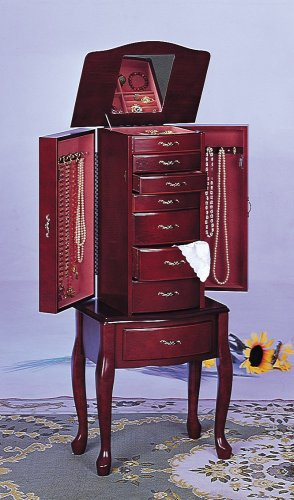 Coaster Traditional Jewelry Armoire Cherry