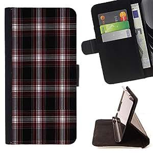 King Case - FOR HTC DESIRE 816 - Style of the grid - Prima caja de la PU billetera de cuero con ranuras para tarjetas, efectivo Compartimiento desmontable y correa para la mu?eca