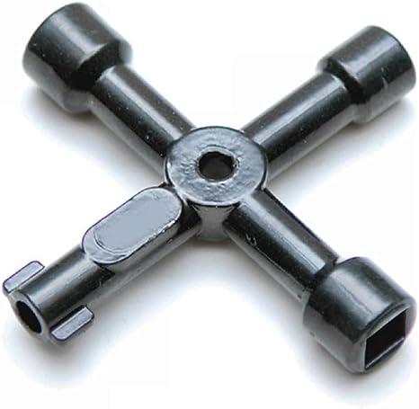 multiherramienta llave cuadrada radiador contador de corriente contador de gas Llave profesional 13 en 1 media luna ascensor armario de conmutaci/ón doble barba llave triangular