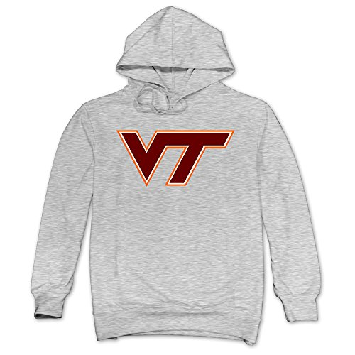 XJBD Men's Virginia Polytechnic Institute And State University Geek Hoodies Ash Size M