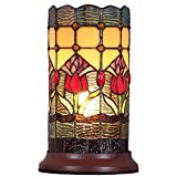 Bieye L10648 10 inch Tulip Tiffany Style Stained Glass Table Lamp