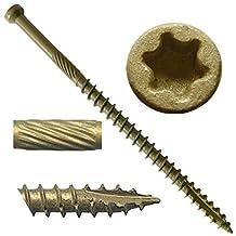 """#7 x 3"""" Bronze Star Exterior Coated """"Tiny"""" FINISH HEAD Wood Screw Torx/Star Drive Head (5 Pound) - Finish Head Exterior Coated Torx/Star Drive Wood Screws - Tiny Head Wood Screws"""