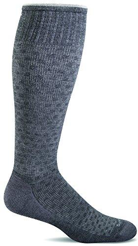 Sockwell Men's Shadow Box Graduated Compression Socks, Charcoal, Large/X-Large - Shadow Grey Apparel