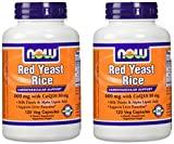 NOW Foods 600mg Red Yeast Rice amp 30mg Coq10 120 caps pack of 2 Discount