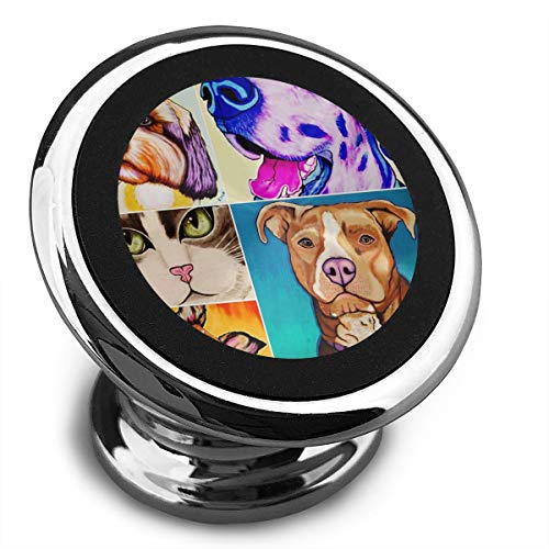 Magnetic Car Phone Honey Dogs Cats Mobile Bracket 360 Degree Rotation from Dashboard