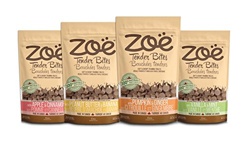 Zoe Assorted Tender Bites, All Natural Dog Treats, Assortment Pack with 4 Flavors