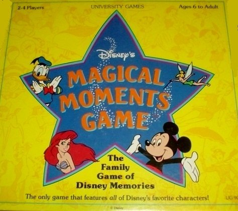 Disney's Magical Moments Game (The Family Game of Disney Memories) by University Games