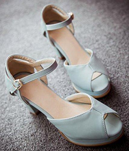 Peep Sandales Femme Aisun Toe Simple Cheville Bride 0vxqETw