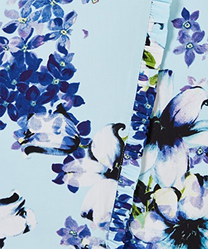 Blau in Kurzärmliges Anstecksträußchen Wickeloptik Teekleid Joe Browns Damen Mehrfarbig mit vSRq8g