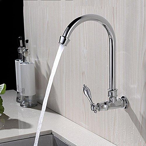 NewBorn Faucet Wasserhähne Warmes und Kaltes Wasser Guter Qualität Alle Kupfer Erkältung Wasserhähne in der Küche an die Wand montiert Schwenken Balkon Wasser Leitungswasser