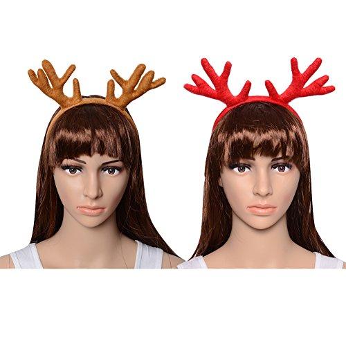 CHICHIC Set of 2 Christmas Reindeer Antlers